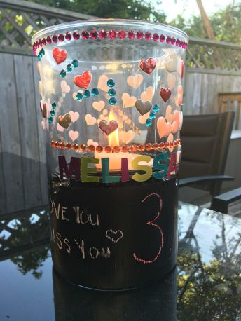 Melissas Birthday Candle Holder